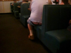 butt crack at burger king LAX