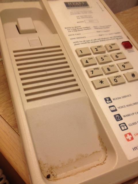 disgustingly dirty phone at Hyatt Jacksonsville