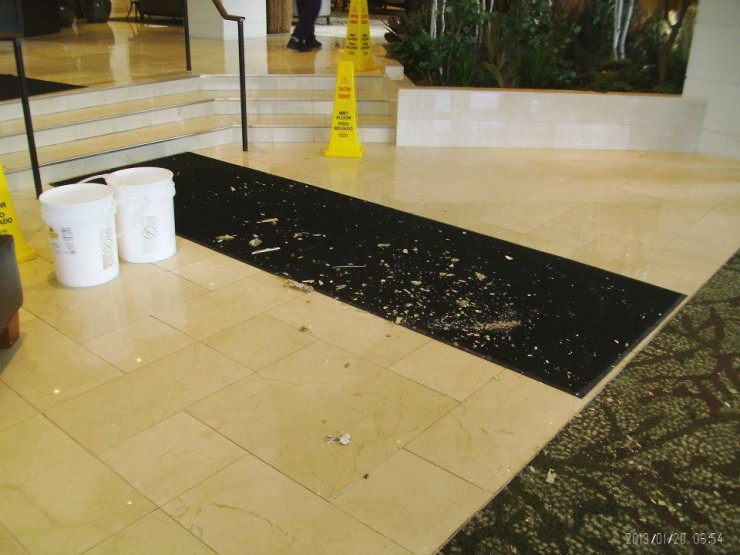 Today's reminder about Bath Time Safety, comes from a guest at an airport Hilton whose 4th floor room was directly over the 3 story atrium lobby, drank, well, a LOT, decided to have a bath and passed out before turning off the water