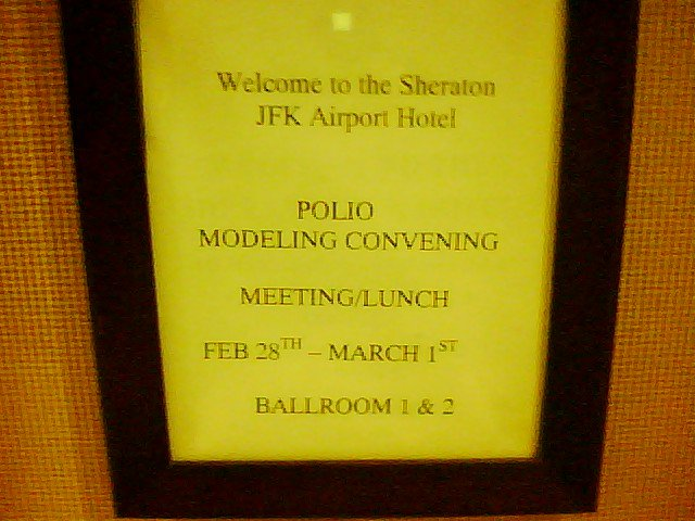 polio modelling convention sign